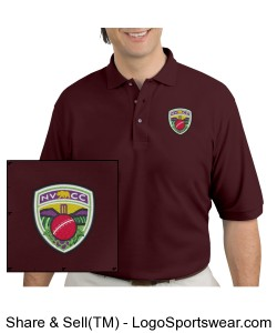 NVCC Polo Maroon Design Zoom