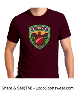 NVCC T-Shirt Maroon Design Zoom
